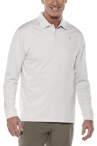 Coolibar---Sport-Longsleeve-UV-Polo-for-men---Solid---Silver