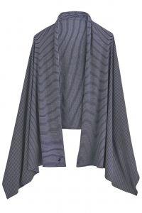 Coolibar---UV-sun-shawl-for-ladies---Navy-Blue/White-stripes