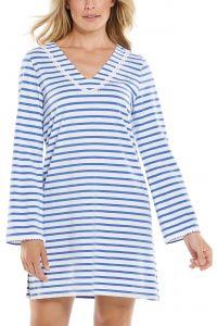 Coolibar---UV-Beach-Cover-Up-for-women---Samoa---French-Blue/White