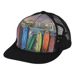 Molo---Baseball-Cap-for-children---Rainbow-Boards---Black