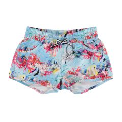 Molo---UV-Swim-shorts-for-girls---Nalika---Coral-Stripe