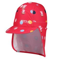 Regatta---Sun-cap-with-neck-protection-for-toddlers---Peppa-Pig---Bright-Blush