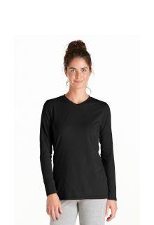 Coolibar---UV-Long-Sleeve-T-Shirt---black