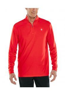 Coolibar---UV-Pullover-for-men---Agility-Performance---Vibrant-Red