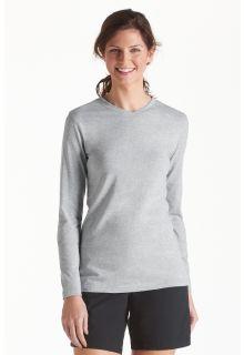 Coolibar---UV-V-neck-T-Shirt-women---Grey