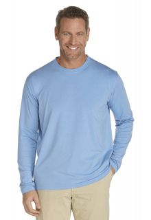 Coolibar---UV-Long-Sleeve-T-Shirt---Light-blue