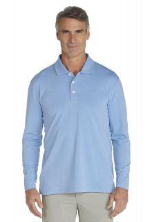 Coolibar---Sport-UV-Polo---blue-river