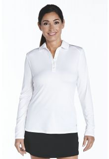 Coolibar---Sport-UV-Polo---Slate/White-white