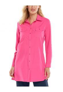 Coolibar---UV-Shirt-for-women---Santorini-Tunic-Blouse---Pink-Bloom