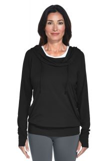 Coolibar---Cowl-Neck-Pullover---Black