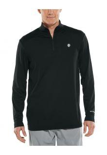 Coolibar---UV-Pullover-for-men---Agility-Performance---Black