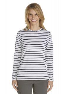 Coolibar---UV-Long-Sleeve-T-Shirt---navy/white-stripe