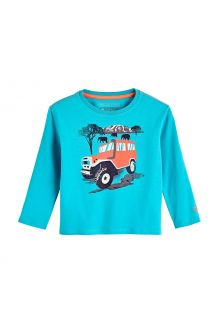 Coolibar---UV-Shirt-for-toddlers---Longsleeve---Coco-Plum-Graphic---Turquoise
