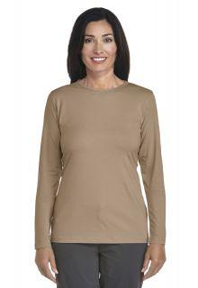 Coolibar---UV-Long-Sleeve-T-Shirt---kaki