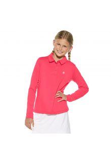 Coolibar---UV-polo-for-girls---pink