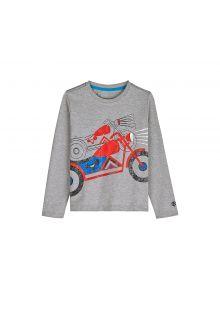 Coolibar---UV-shirt-for-children-longsleeve---Motor-heather-grey