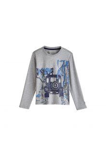 Coolibar---UV-shirt-for-children-longsleeve---Safari-Jeep-heather-grey