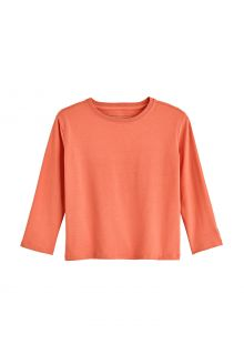 Coolibar---UV-Shirt-for-toddlers---Longsleeve---Coco-Plum---Soft-Coral