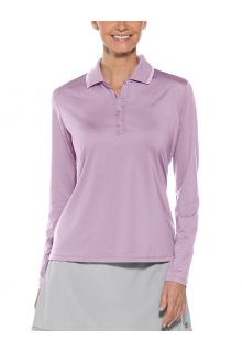 Coolibar---UV-Sport-Polo-for-women---Longsleeve---Prestwick-Golf---Lavender