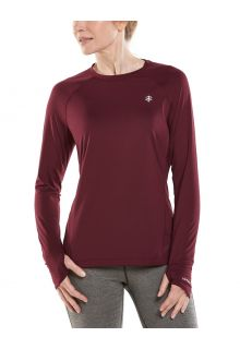 Coolibar---UV-Fitness-Top-for-women---Longsleeve---Devi---Maroon