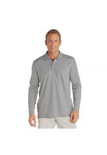 Coolibar---UV-polo-shirt-for-men-longsleeve---Grey-heather