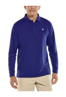 Coolibar---UV-Sport-Polo-for-men---Longsleeve---Erodym-Golf---Midnight-Blue