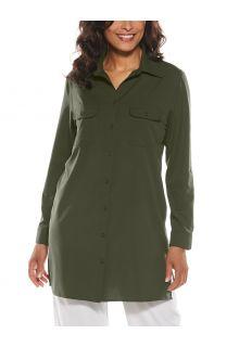 Coolibar---UV-Shirt-for-women---Santorini-Tunic-Blouse---Deep-Olive