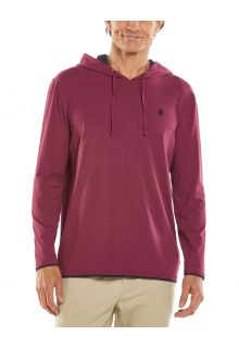 Coolibar---UV-Pullover-Hoodie-for-men---Oasis---Cranberry