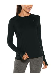 Coolibar---UV-Fitness-Top-for-women---Longsleeve---Devi---Black