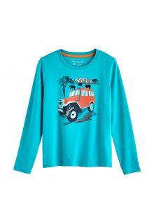 Coolibar---UV-Shirt-for-kids---Longsleeve---Coco-Plum-Graphic---Turquoise