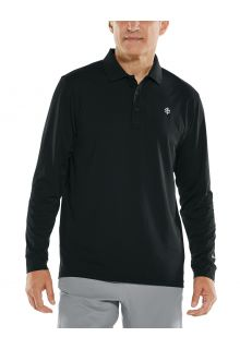 Coolibar---UV-Sport-Polo-for-men---Longsleeve---Erodym-Golf---Black