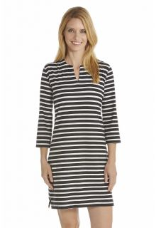 Coolibar---UV-Tunic-women---Black/White