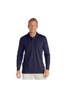Coolibar---UV-polo-shirt-for-men-longsleeve---Navy-blue