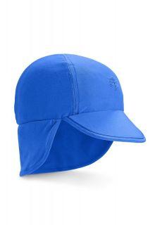 Coolibar---UV-sun-cap-for-babies-with-neck-flap---Baja-Blue