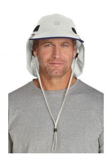 Coolibar---Convertible-UV-Fishing-Cap-for-men---Calec---Stone/Navy