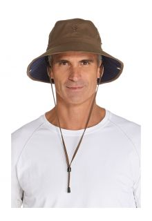 Coolibar---Featherweight-UV-Bucket-Hat-for-men---Chase---Khaki/Navy
