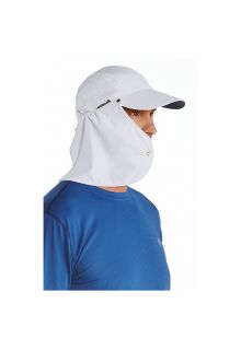 Coolibar---UV-sun-cap-for-men-with-neck-flap---White-/-navy-blue