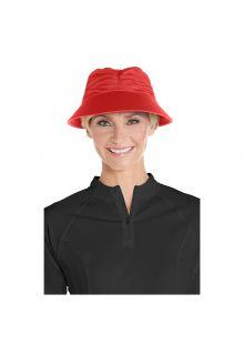 Coolibar---UV-sun-visor-for-women---Poppy-red
