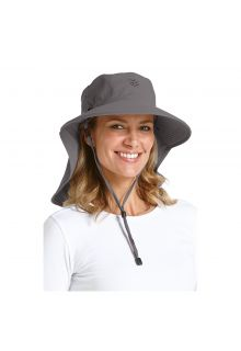 Coolibar---UV-sun-hat-for-women-with-neck-/-face-drape---Carbon-grey