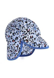 Coolibar---UV-Sun-Cap-for-babies-with-neck-flap---Splashy---Cheetah