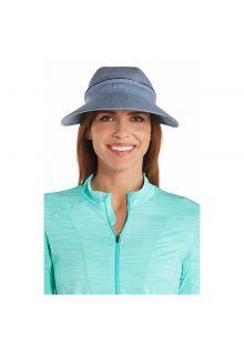 Coolibar---UV-sun-visor-for-women---Zip-off---Chambray-blue