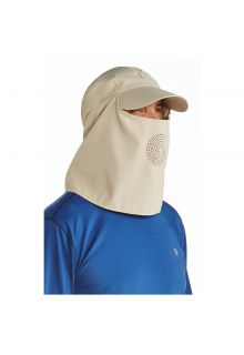 Coolibar---UV-sun-cap-with-neck-and-face-cover---Tan