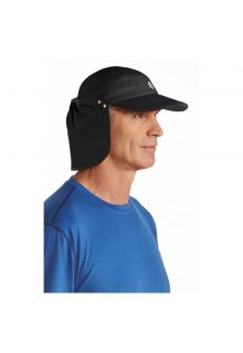 Coolibar---UV-sun-cap-unisex--Black