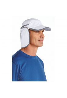 Coolibar---UV-sun-cap-unisex--White-/-carbon-grey