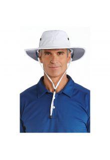 Coolibar---Shapeable-Wide-Brim-UV-Hat-for-men---Leo---White/Carbon