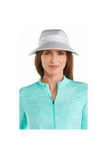 Coolibar---UV-sun-visor-for-women---Zip-off---White