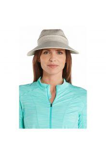 Coolibar---UV-sun-visor-for-women---Zip-off---Natural-herringbone
