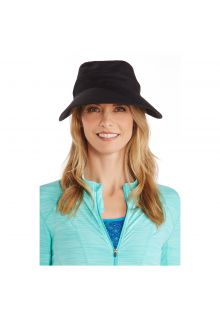 Coolibar---UV-sun-visor-for-women---Zip-off---Black