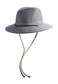 Coolibar---Crushable-ventilated-UV-Hat-for-men---Kaden---Smoke-Grey