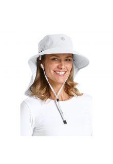 Coolibar---UV-sun-hat-for-women-with-neck-/-face-drape---White